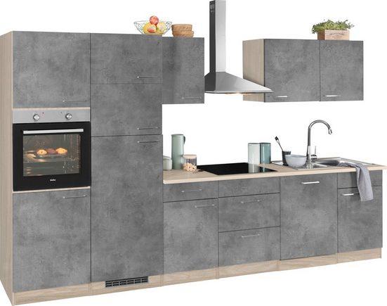 wiho Küchen Küchenzeile »Zell«, mit E-Geräten, Breite 340 cm