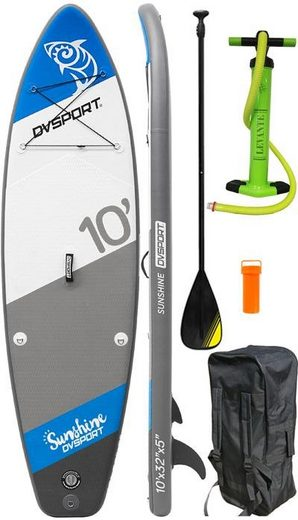 DVSPORT Inflatable SUP-Board »DVSport Stand-up-Paddleset Sunshine«, (Set, 4 tlg., mit Paddel, Pumpe und Transportrucksack)