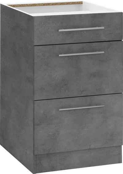 wiho Küchen Unterschrank »Cali« 50 cm breit, mit 2 großen Auszügen ohne Arbeitsplatte