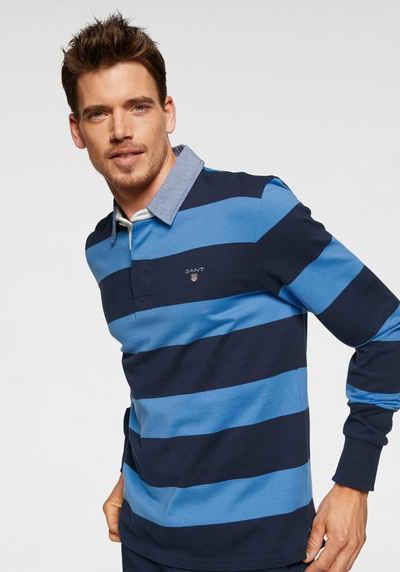 Gant Rugbyshirt »Barstripe Heavy Rugger« sportiver Alltagsstyle