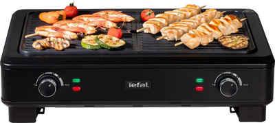 Tefal Tischgrill TG9008 Smokeless Grill, 2000 W, Elektrischer indoor BBQ Tischgrill, Wenig Rauch und Geruchsbildung, Thermostate mit 5 Einstellungen