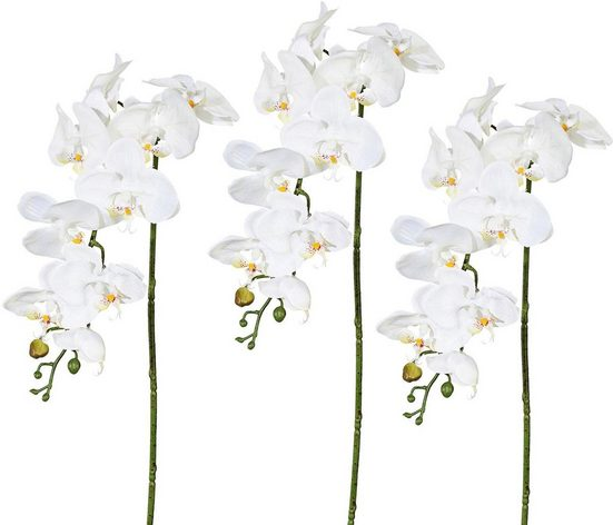 Kunstpflanze Orchidee, Creativ green, Höhe 98 cm, 3er Set