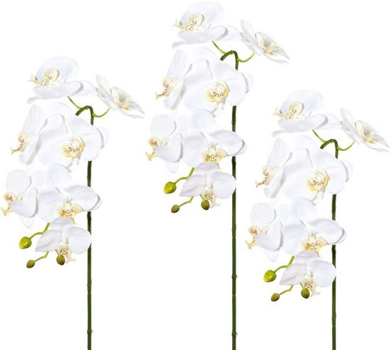 Kunstblume Phalenopsis, Höhe 88 cm, Real Touch (3er Set)