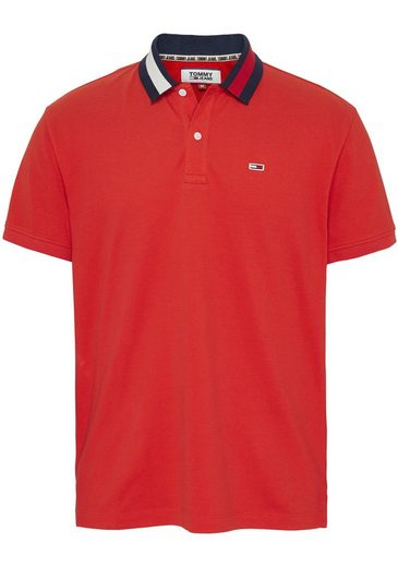 TOMMY JEANS Poloshirt »TJM FLAG NECK POLO«