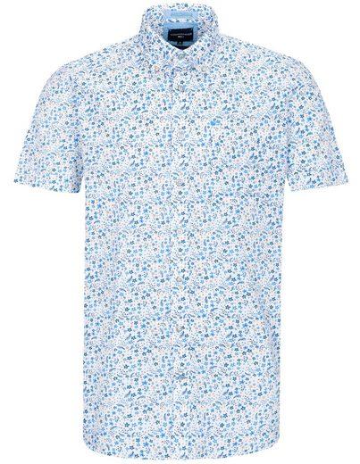 COMMANDER Kurzarmhemd mit Blumen-Allover-Print