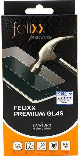 felixx Schutzglas »Premium-Glas Case friendly für Samsung Galaxy S10e«