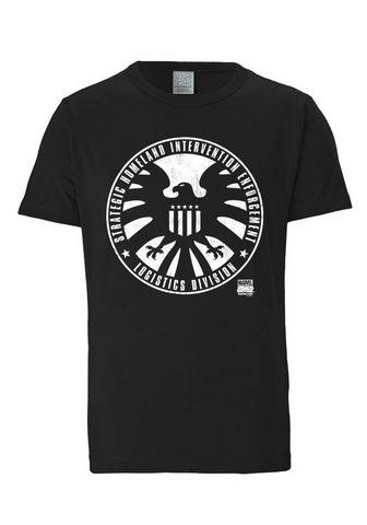 LOGOSHIRT Marškinėliai su S.H.I.E.L.D.-Logo »S.H...