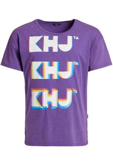 khujo T-Shirt »WILLI BITS« mit buntem Typo-Print