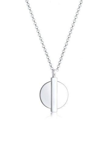 Elli Collierkettchen »Basic Plättchen Anhänger Geo Look 925 Silber«