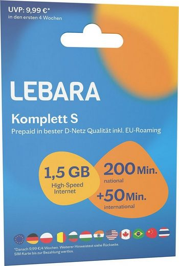 Lebara Prepaid Karte »Komplett S Tarif-Paket«