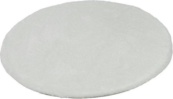 Fellteppich »Tender«, SCHÖNER WOHNEN-Kollektion, rund, Höhe 26 mm, besonders weich durch Microfaser, Kunstfell, waschbar