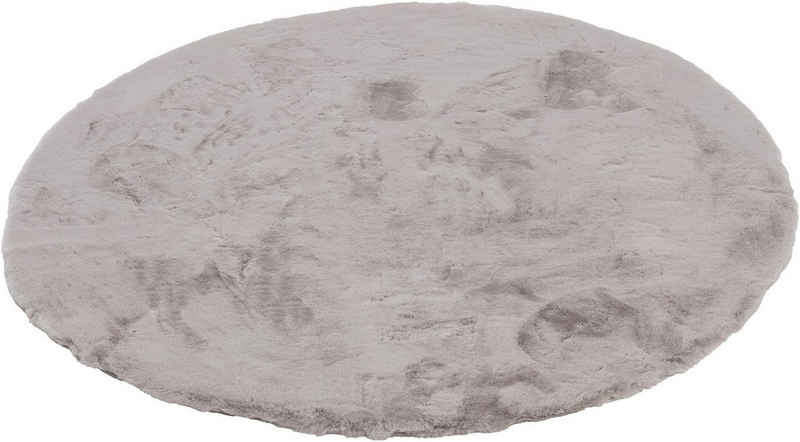 Fellteppich »Tender«, SCHÖNER WOHNEN-Kollektion, rund, Höhe 26 mm, besonders weich durch Microfaser, Kunstfell, waschbar, Wohnzimmer