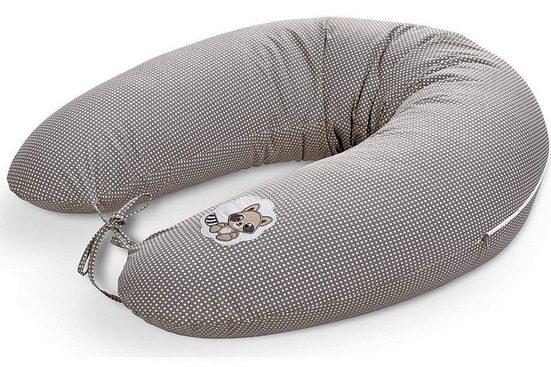 SEI Design Stillkissen »Waschbär taupe«, mit hochwertiger Stickerei