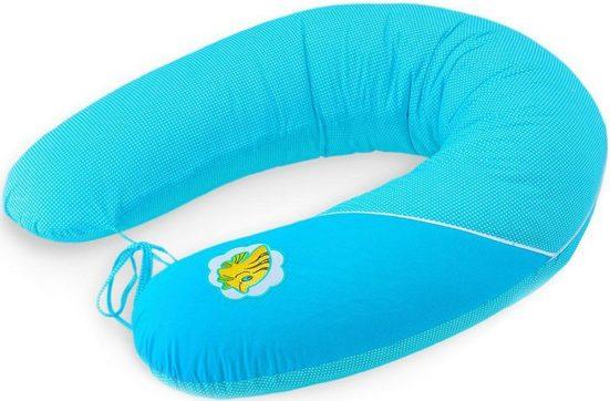 SEI Design Stillkissen »Fisch antarktisblau EPS«, mit hochwertiger Stickerei mit niedlichen Tiermotiven