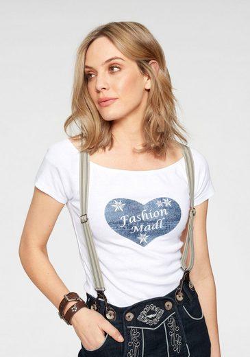 Arizona Carmenshirt »Off-Shoulder Trachten Shirt« Ausschnitt variabel tragbar