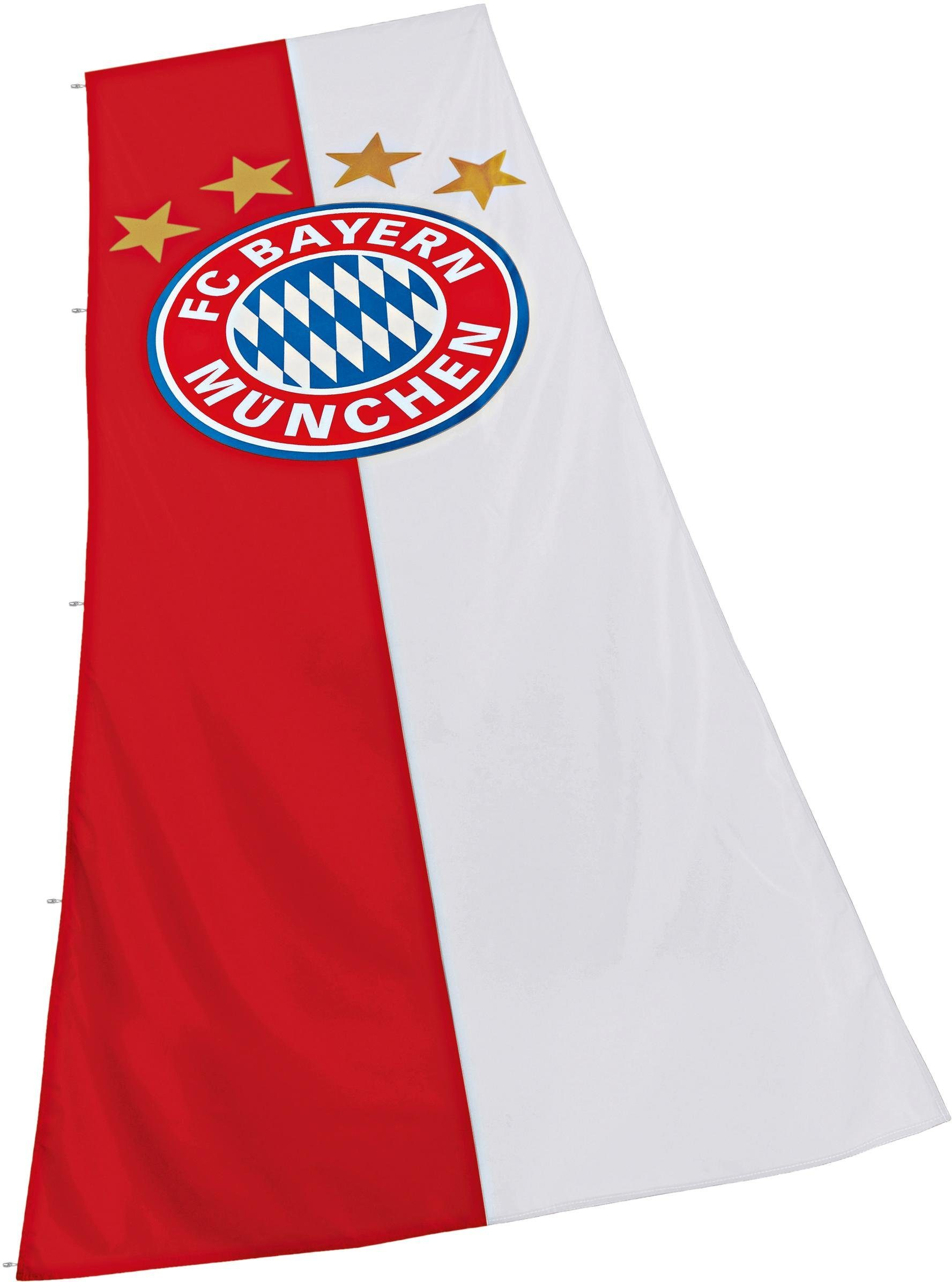 FC Bayern München Fahne, »FC Bayern Hissfahne Logo XL 150x400 cm«