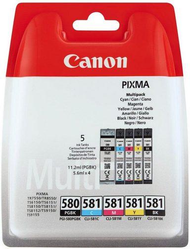 Canon »PGI-580/CLI-581 BK/CMYK Multi Pack 5-farbig« Tintenpatrone