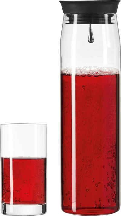 LEONARDO Gläser-Set »Brioso«, Glas, Silikon, 1 Karaffe, 2 Longdrinkgläser
