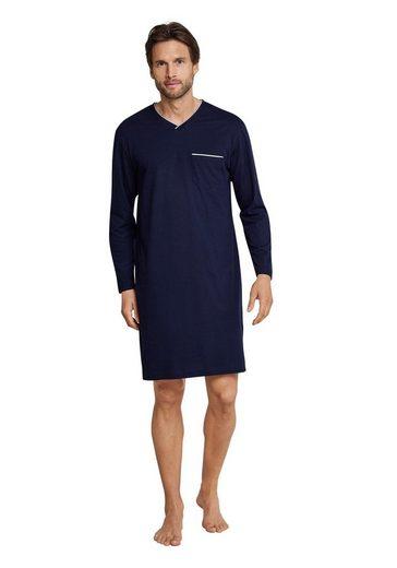 seidensticker Nachthemd für Herren mit aufgesetzter Tasche