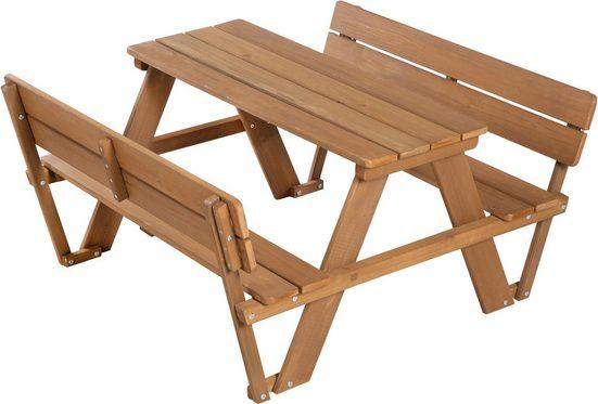 Roba® Kindersitzgruppe »Picknick for 4 Outdoor Deluxe mit Lehne«, (Set, 1 tlg)
