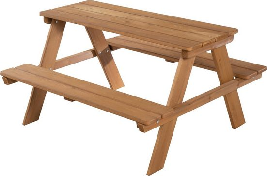 roba® Kindersitzgruppe »Picknick for 4 Outdoor Deluxe, Teakholz«, (Set, 1-tlg), mit abgerundeten Ecken
