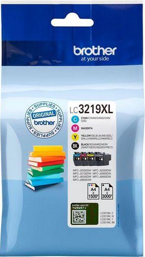 Brother »LC 3219 XL Multipack, Cyan, Gelb, Magenta, Schwarz« Tintenpatrone