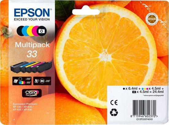 Epson »Origal Multipack 5-colours 33 Claria Premium Ink : C13T33374021« Tintenpatrone