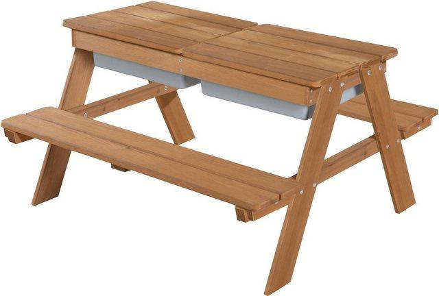 Sitzmöbel - roba® Kindersitzgruppe »Outdoor Deluxe mit Spielwannenm Teakholz«, (Set, 1 tlg)  - Onlineshop OTTO