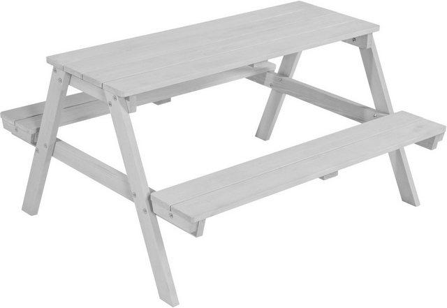 Sitzmöbel - roba® Kindersitzgruppe »Picknick for 4 Outdoor Deluxe, Grau«, (Set, 1 tlg), mit abgerundeten Ecken  - Onlineshop OTTO