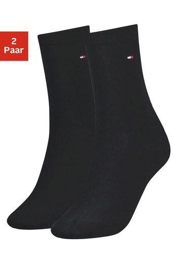 TOMMY HILFIGER Socken (2-Paar) mit flacher Zehennaht