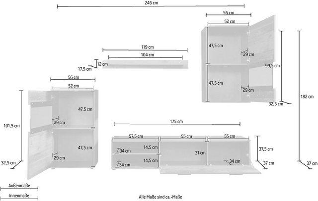 Wohnwände - trendteam Wohnwand »Mango«, (4 St)  - Onlineshop OTTO