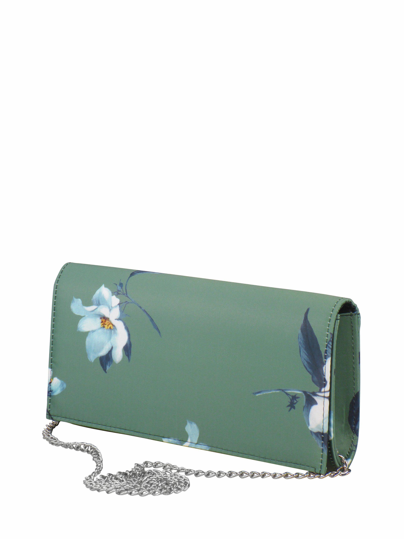 COLLEZIONE ALESSANDRO Clutch »Rosemary«, mit Blütendruck und abnehmbarer Kette