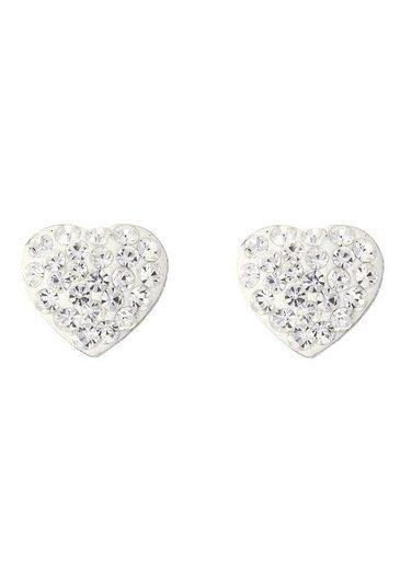 Firetti Paar Ohrstecker »Herzen, Liebe, Romantik«, mit Kristallsteinen
