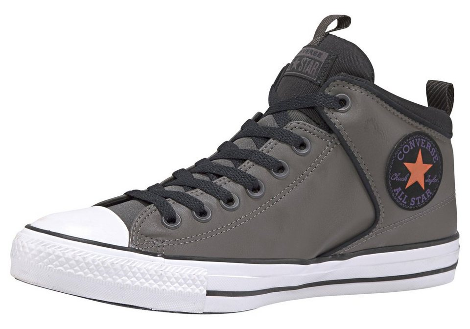 converse chuck taylour all star high street leather hi. Black Bedroom Furniture Sets. Home Design Ideas