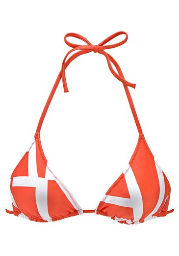 Calvin Klein Triangel-Bikini-Top, mit kontrastfarbenem Druck