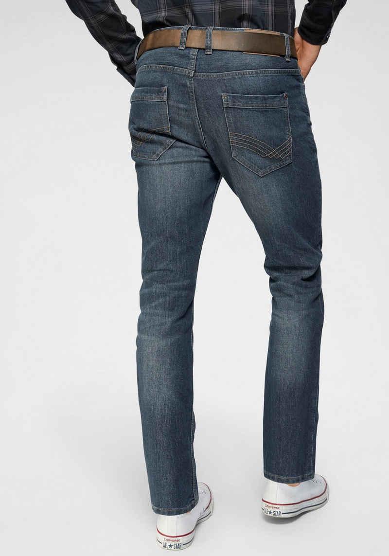 TOM TAILOR Straight-Jeans »Marvin« 5-Pocket-Jeans