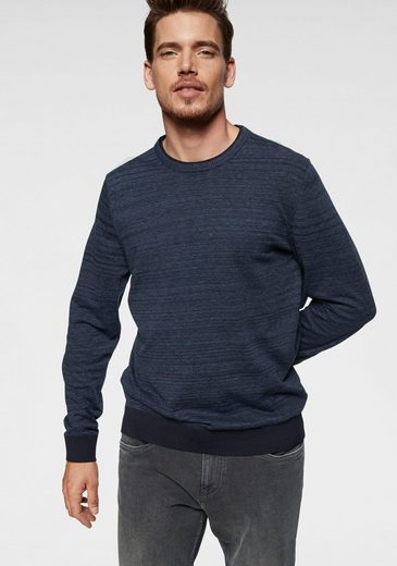 s.Oliver Strickpullover in melierter Optik