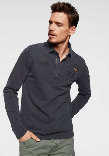 PME LEGEND Langarm-Poloshirt Mit Applikationen
