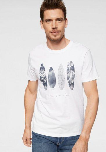 Esprit T-Shirt mit sommerlichem Druck vorn