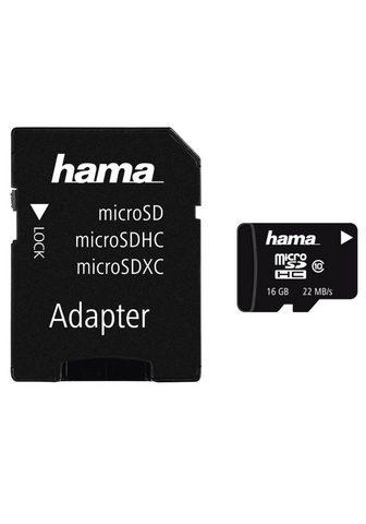 HAMA MicroSDHC 16 GB Class 10 22MB/s + Adap...