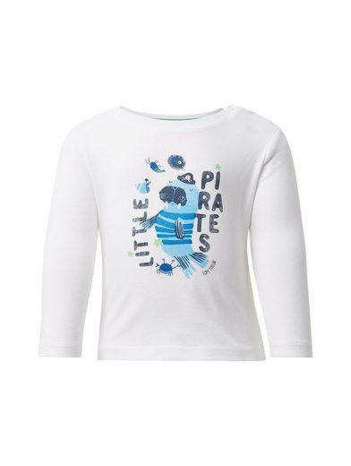 TOM TAILOR Langarmshirt »Langarmshirt mit Brust-Print«