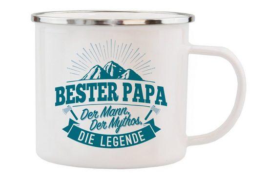 HTI-Living Echter Kerl Emaille Becher »Bester Papa«