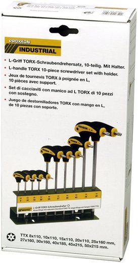 PROXXON Schraubendrehersatz »L-Griff«, 10-tlg., TX/TTX mit Halter