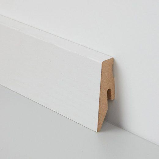 BODENMEISTER Sockelleiste »Echtholz furniert«, praktisches 2er-Pack, Höhe 6 cm