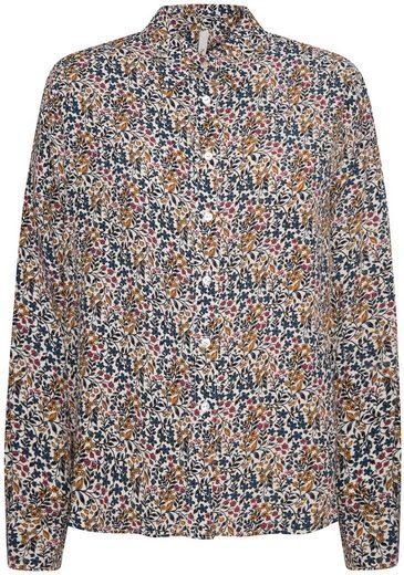 Pepe Jeans Druckbluse »OPHELIA« mit filigranem Alloverdruck im Blumendesign