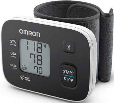 Omron Handgelenk-Blutdruckmessgerät RS3 Intelli IT (HEM-6161T-D), mit Bluetooth-Funktion für zu Hause und unterwegs
