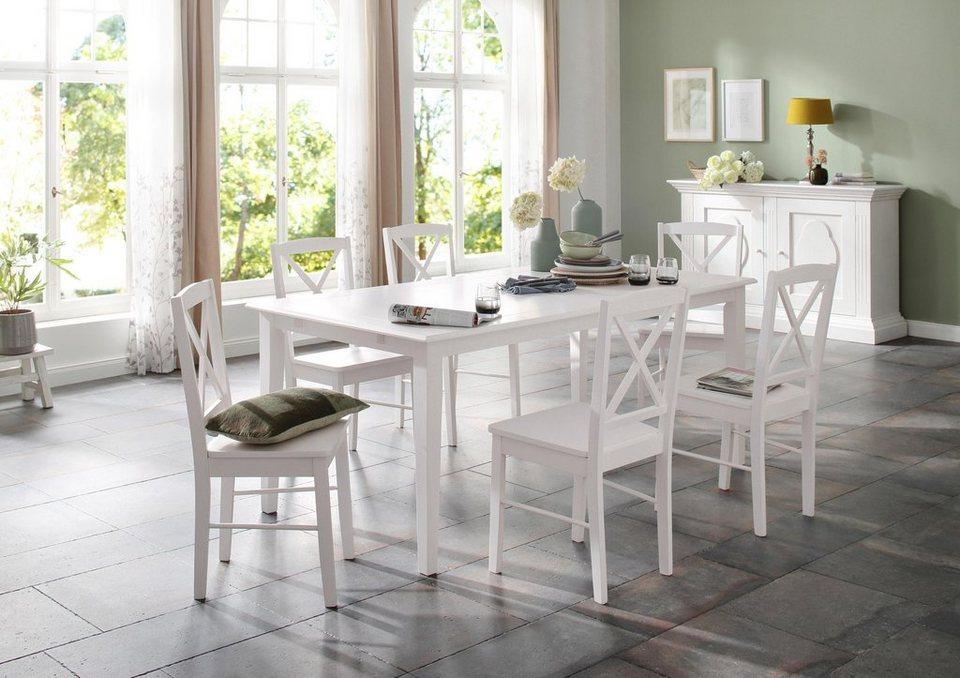 home affaire essgruppenset olvera aus massivem. Black Bedroom Furniture Sets. Home Design Ideas