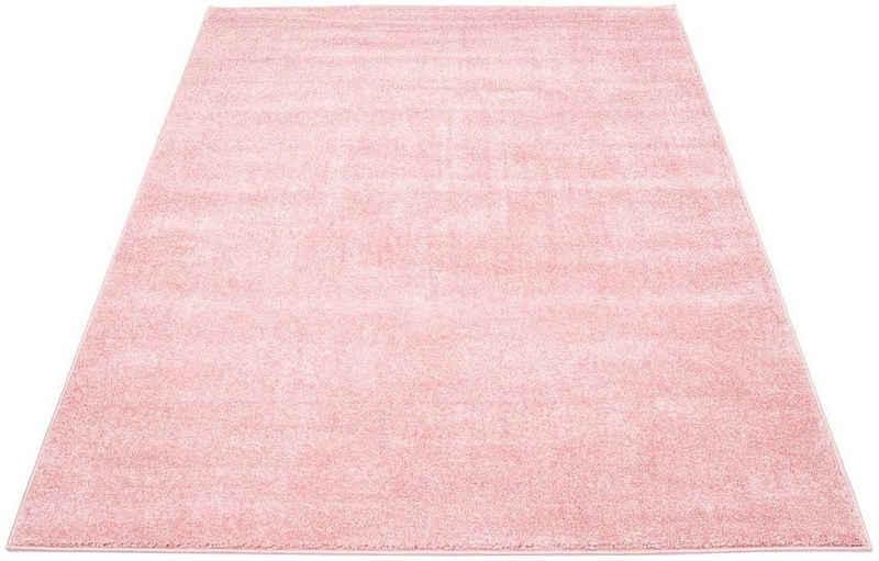 Teppich »Moda Soft 2081«, Carpet City, rechteckig, Höhe 11 mm, pastell Farben, Kurzflor, Wohnzimmer