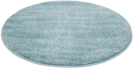 Teppich »Moda Soft 2081«, Carpet City, rund, Höhe 11 mm, pastell Farben, Kurzflor