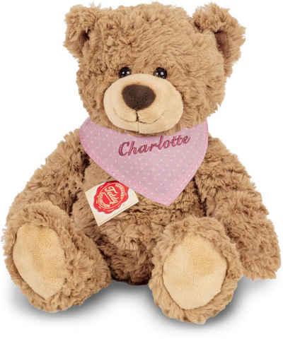 Teddy Hermann® Kuscheltier »Teddy hellbraun mit rosa Halstuch, 30 cm«, mit individueller Bestickung